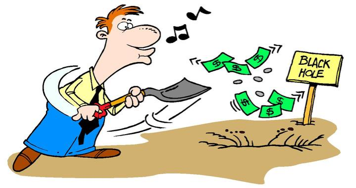 Baseline Budgeting Encourages Debt - It's like digging a hole to file a hole